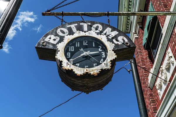 Bottoms shop clock in Bardstown, Kentucky.