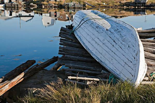 Fishing Boat Art Print featuring the photograph Fishing Boat At Rest by Tatiana Travelways