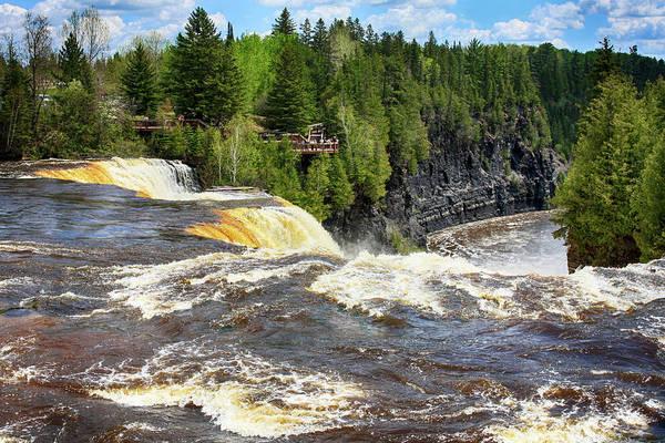 Kakabeka Falls Art Print featuring the photograph Kakabeca Falls 2 by Tatiana Travelways