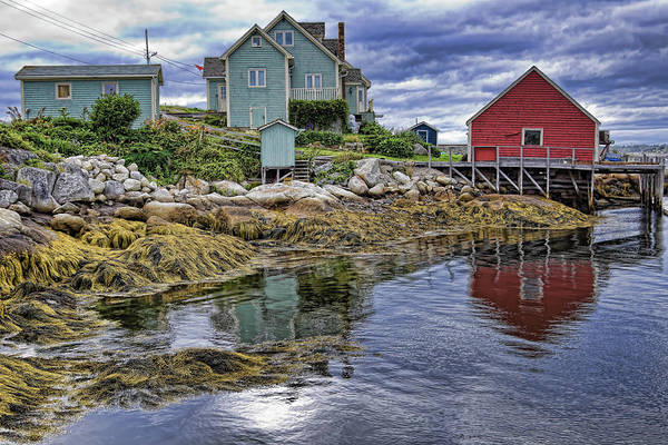 Low Tide at Peggy's Cove Art Print