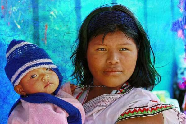 Native Culture Art Print featuring the photograph Kuna Yala - Mother And Child by Tatiana Travelways