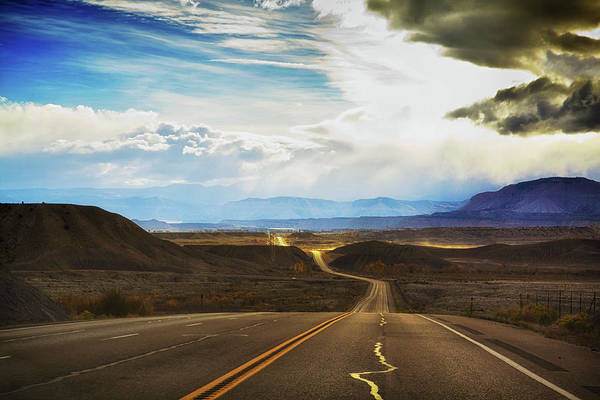 Wavy Art Print featuring the photograph Wavy, Glowing Country Road In Utah by Tatiana Travelways