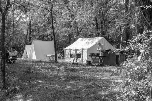 Tents in the Civil War encampment.