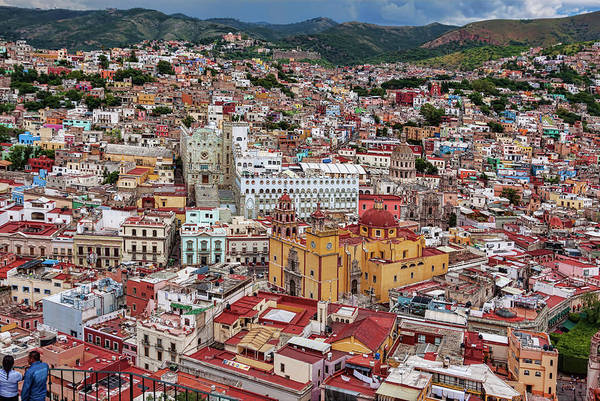 Downtown Guanajuato Art Print featuring the photograph Downtown Guanajuato, Mexico by Tatiana Travelways