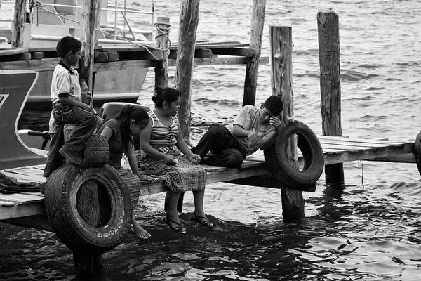 Fishing Art Print featuring the photograph Fishing At Atitlan Lake, Guatemala by Tatiana Travelways