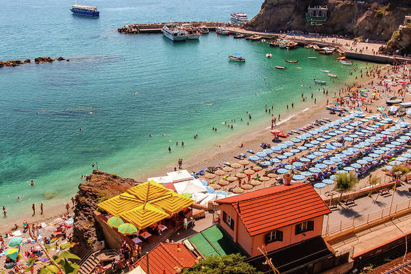 The beach in Monterosso al Mare, as seen from trail from Vernazza By Aashish Vaidya