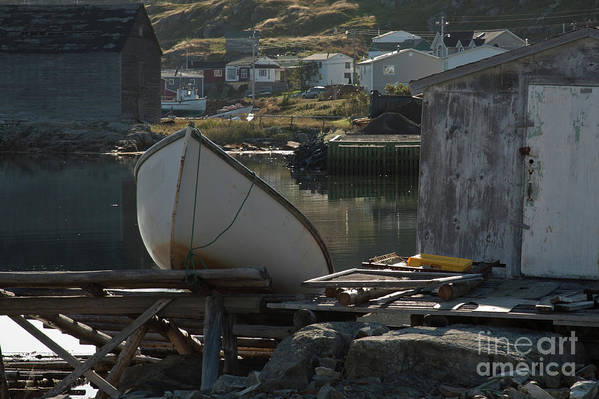 Fishing Boat Art Print featuring the photograph Sunday Morning In Fogo Island, Newfoundland by Tatiana Travelways