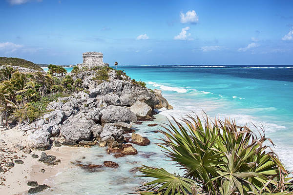 Tulum Art Print featuring the photograph Tulum Mayan Ruins Mexico #3 by Tatiana Travelways