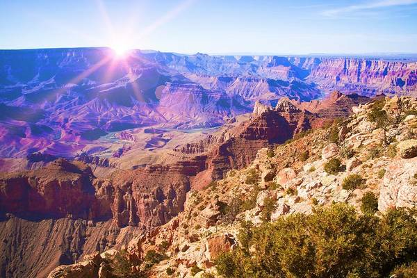 Grand Canyon National Park Art Print featuring the photograph Grand Canyon Arizona 7 by Tatiana Travelways