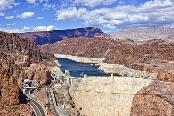 Hoover Dam Art Print featuring the photograph Hoover Dam, Las Vegas by Tatiana Travelways