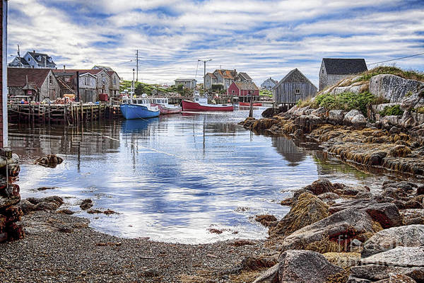 Low Tide Art Print featuring the photograph Low tide at Peggy's Cove 5 by Tatiana Travelways