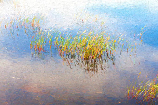 soft wavy lines and water reflections