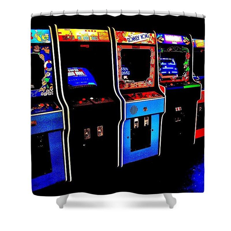 arcade forever nintendo shower curtain