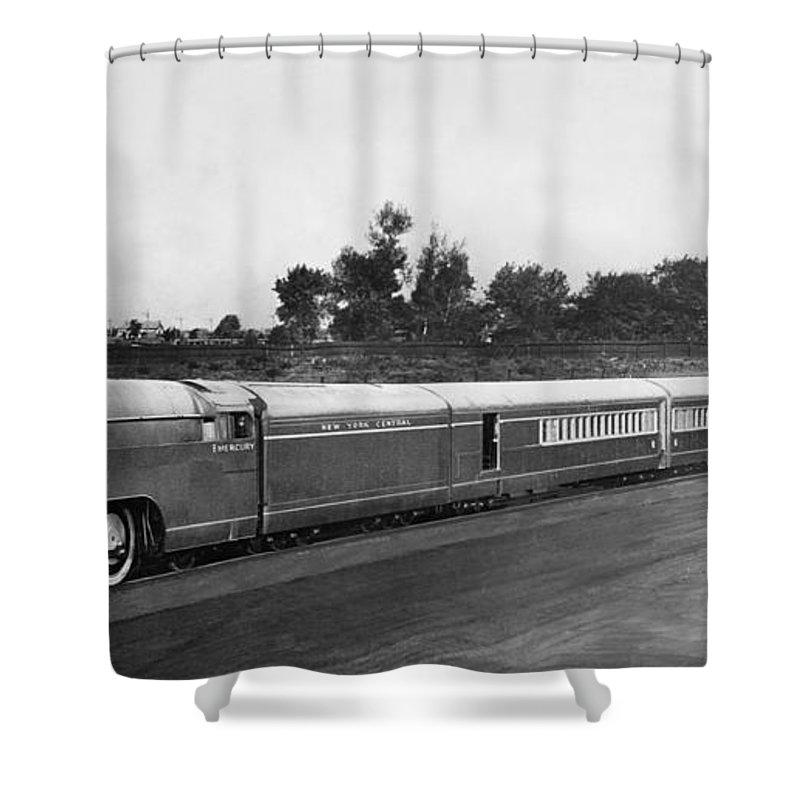 new york central mercury train shower curtain