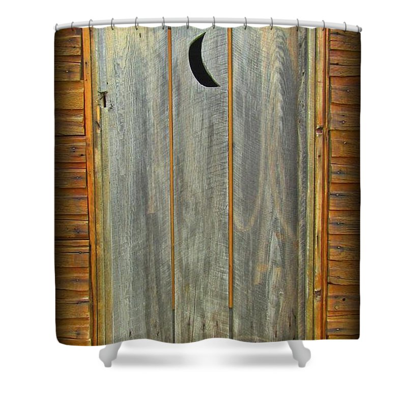 outhouse door shower curtain