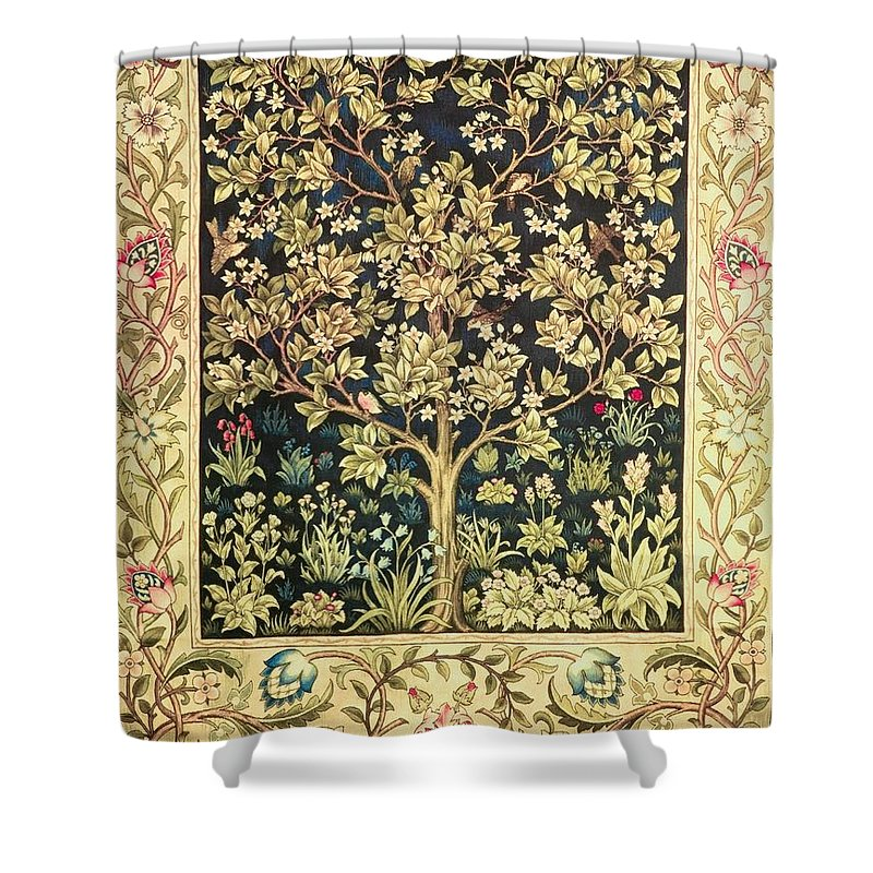 Tree Of Life Shower Curtain For Sale By William Morris