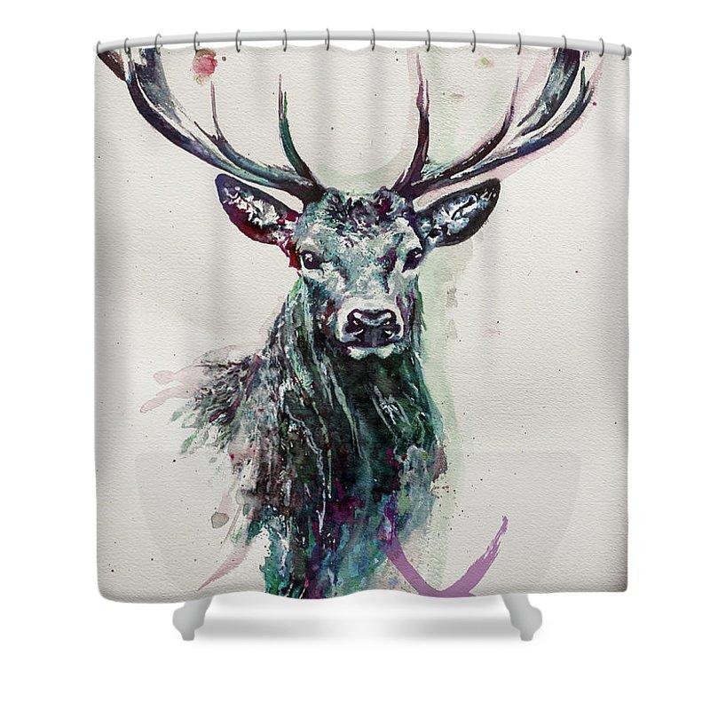 king deer shower curtain