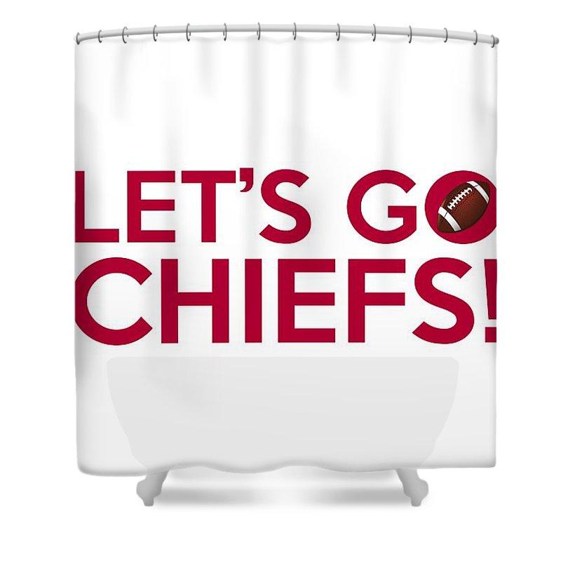 let s go chiefs shower curtain