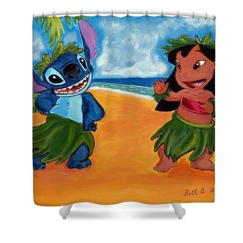 lilo and stitch shower curtain