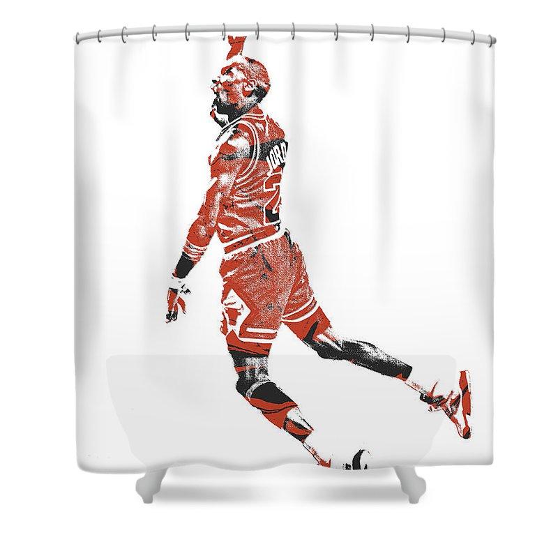 michael jordan chicago bulls pixel art 11 shower curtain