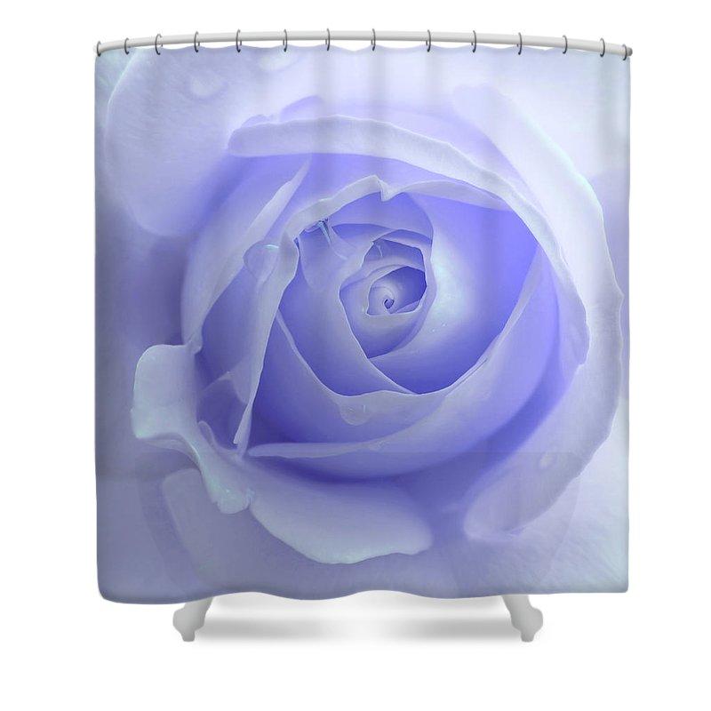 pastel purple rose flower shower curtain