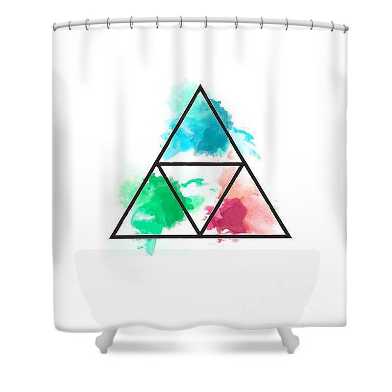 zelda triforce shower curtain