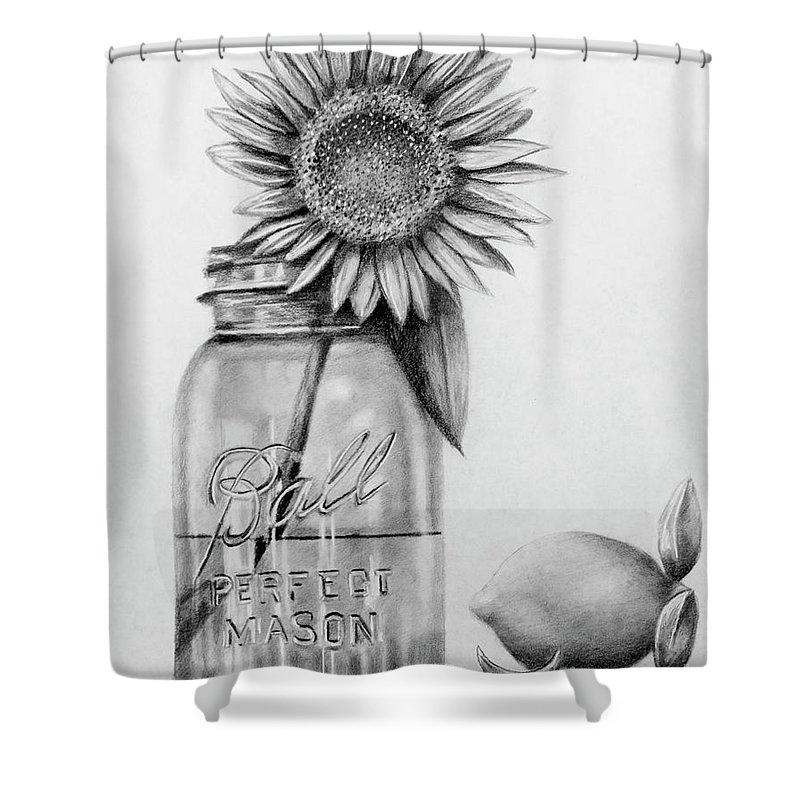 mason jar and sunshine shower curtain