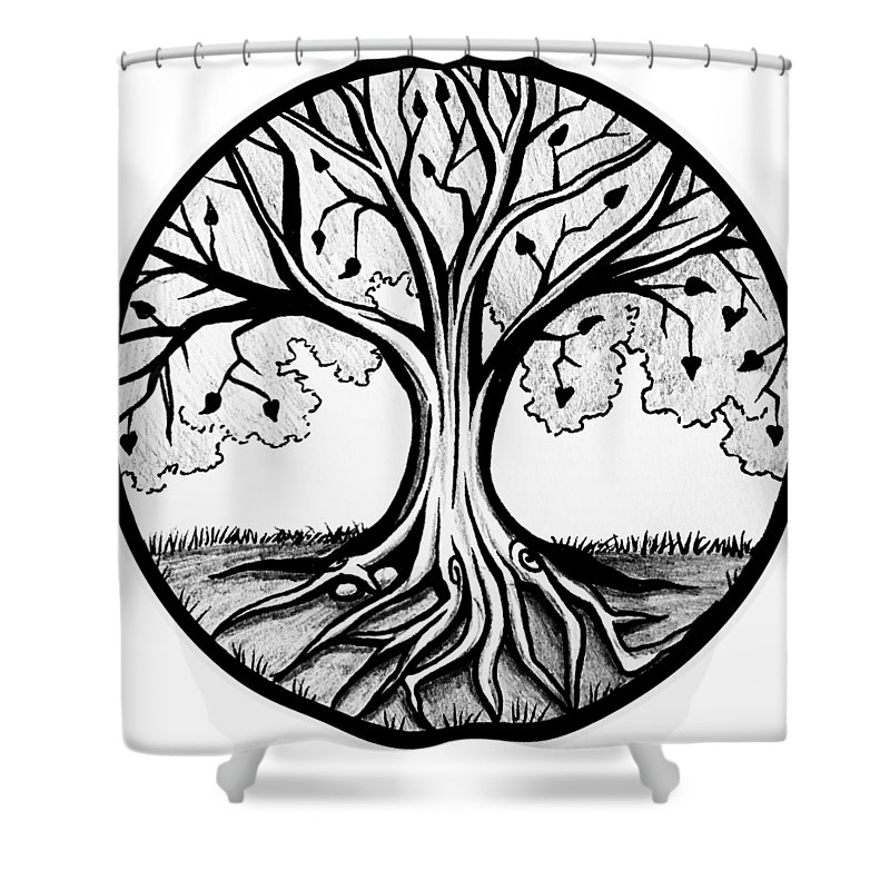 thrive tree of life shower curtain