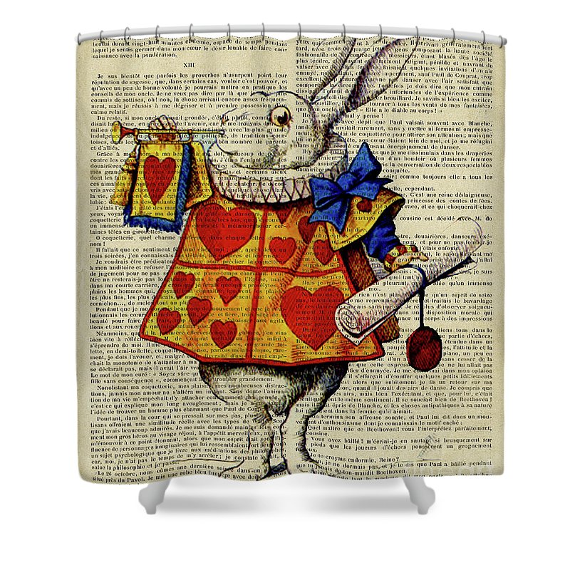 alice in wonderland characters alice wonderland cheshire cat queen of hearts mad hatter white shower curtain