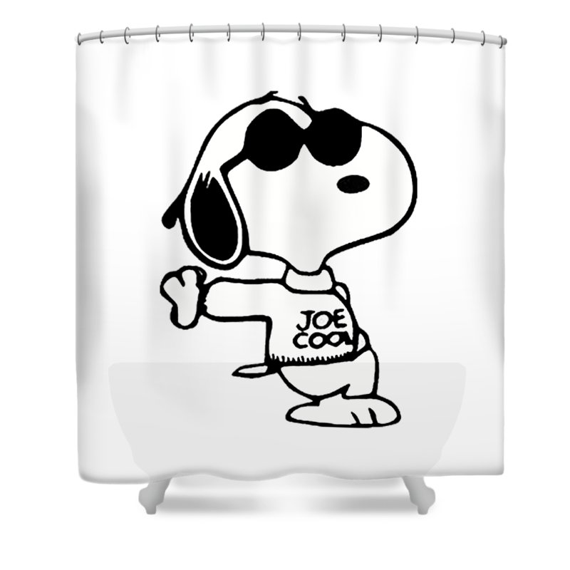 stevie s snoopy joe cool shower curtain
