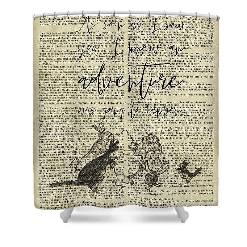 winnie the pooh quote shower curtain