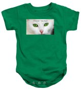 Cat Baby Onesie featuring the photograph I'm Irish Are You by Nancy Ayanna Wyatt