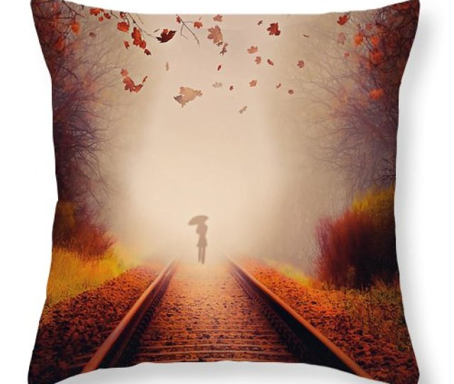 Art Throw Pillow Featuring The Photograph Farewell By Svetlana Sewell