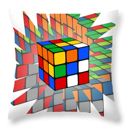 rubik s cube throw pillow