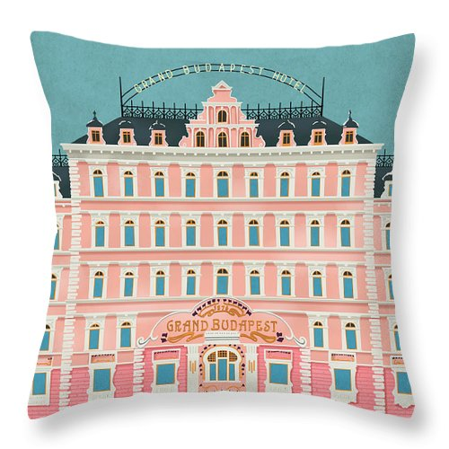 grand budapest hotel wes anderson throw pillow