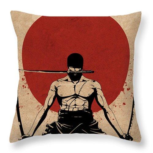 zoro one piece anime throw pillow