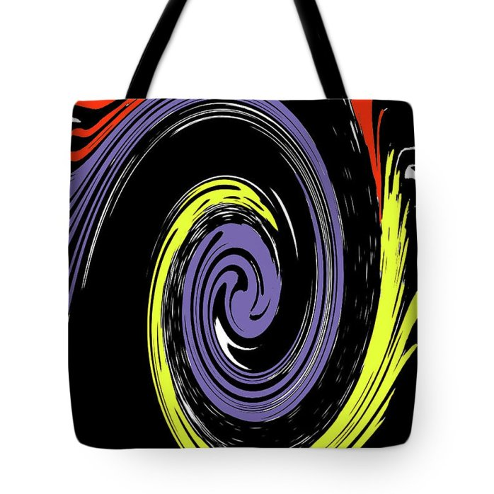 Abstract Tote Bag featuring the photograph Colorful Swirl by Holly Morris