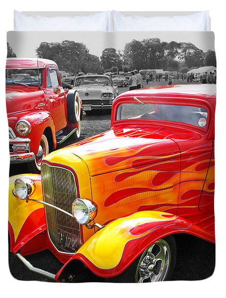 Car Show Fever 54 Chevy With A 32 Ford Coupe Hot Rod Photograph By Gill Billington