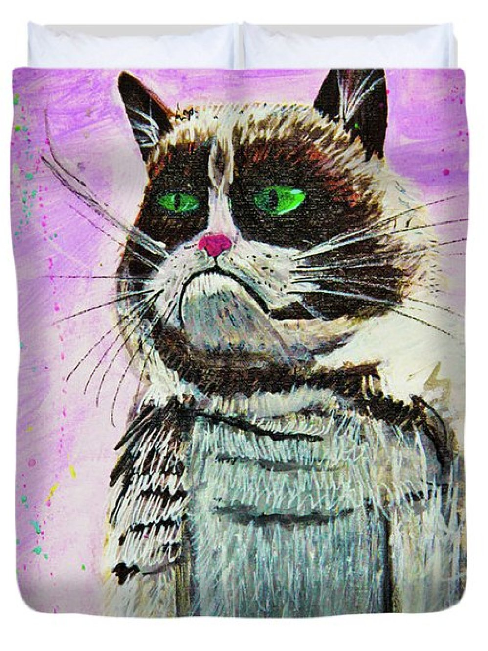 The Grumpy Cat From The Internets Duvet Cover by eVol i