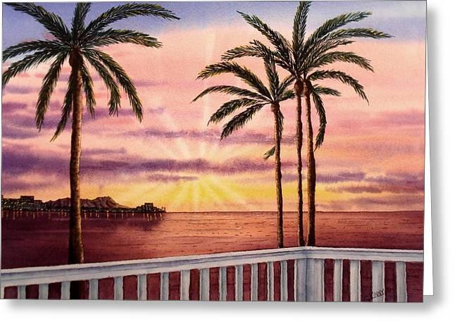 Diamond Head Sunset Painting By Gary Vineyard