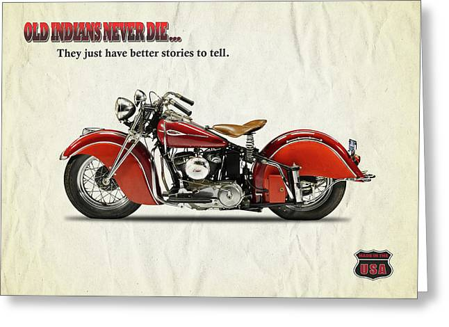 Indian Motorcycle Greeting Cards Fine Art America