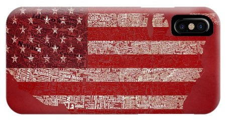 Geography Word iPhone Cases  Page  5 of 8    Fine Art America Geography Word iPhone Case   Usa Typographic Map 1c by Brian Reaves