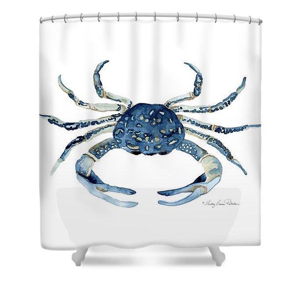 blue crab shower curtains fine art