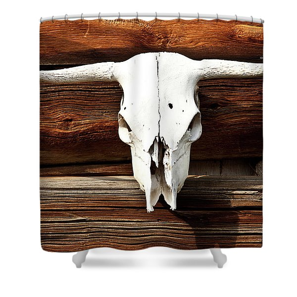 cow skull shower curtains pixels