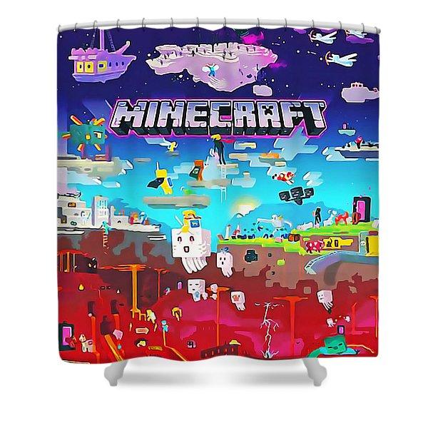 minecraft shower curtains fine art