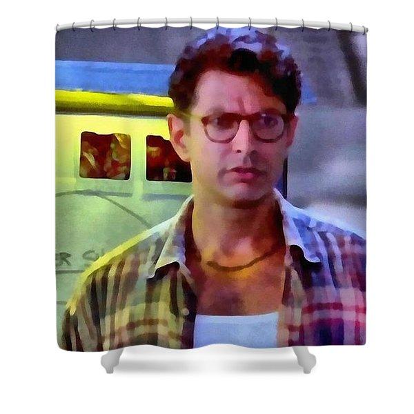 jeff goldblum shower curtains pixels