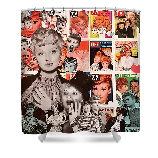 i love lucy shower curtains fine art