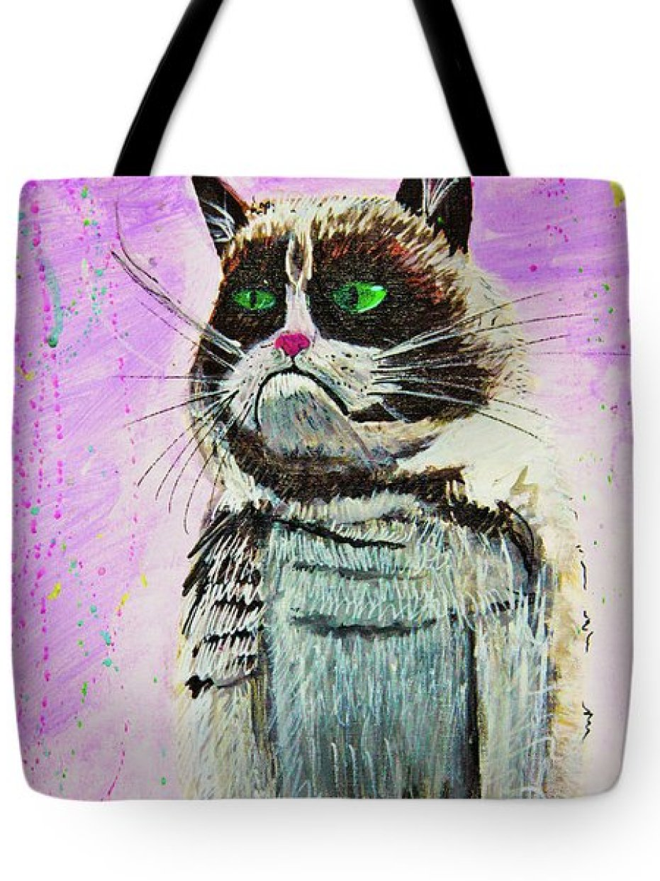 The Grumpy Cat From The Internets Tote Bag by eVol i