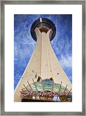 Skyjump From The Stratosphere Tower Las Vegas #2 Framed Print by Tatiana Travelways