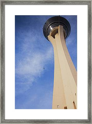 Skyjump From The Stratosphere Tower Las Vegas Framed Print by Tatiana Travelways